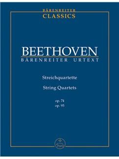 L. Van Beethoven: String Quartets Op.74 & Op.95 (Study Score) Books | String Quartet