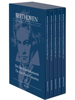 Ludwig Van Beethoven: The Five Piano Concertos - Study Scores Books | Orchestra