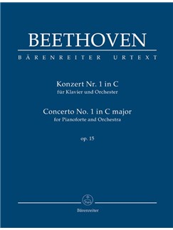 Ludwig Van Beethoven: Piano Concerto No.1 In C Op.15 (Study Score) Books | Orchestra, Piano