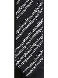 Silk Tie: Sheet Music (Black)  |