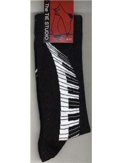 The Tie Studio: Keyboard Swirl Socks - Black (Size 6-11)  |