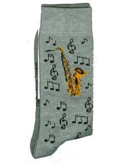 Tie Studio: Saxophone & Notes Socks  | Saxophone