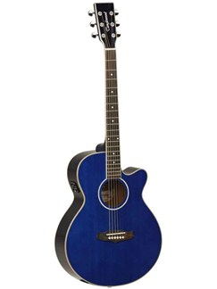 Tanglewood: Evolution TSF (Mahogany/Blue Gloss) Instruments | Electro-Acoustic Guitar