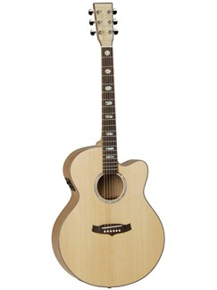 Tanglewood: TSJ Evolution Exotic Series Cutaway Super Jumbo (Spruce/Flame Maple) Instruments | Electro-Acoustic Guitar