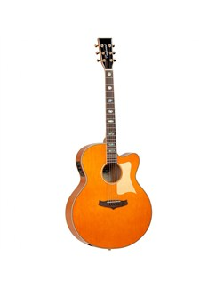 Tanglewood: Evolution Viscount Super Jumbo Electro-Acoustic Guitar (Orange) Instruments | Electro-Acoustic Guitar