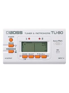 Boss: TU-80 Chromatic Tuner/Metronome (White)  |