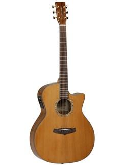 Tanglewood: TVC KOA C Evolution Exotic Electro-Acoustic Guitar Instruments   Electro-Acoustic Guitar
