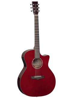 Tanglewood: Evolution Electro-Acoustic Guitar Auditorium TVC TWR - Wine Red Instruments |