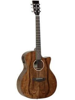 Tanglewood: Folk Cutaway Exotic Pacific Walnut Electro-Acoustic Guitar Instruments | Electro-Acoustic Guitar