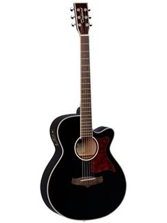 Tanglewood: Winterleaf Folk Electro-Acoustic Guitar – Black Instruments | Electro-Acoustic Guitar