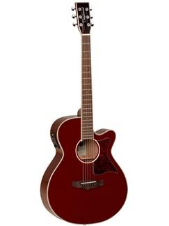 Tanglewood: Winterleaf Folk Electro-Acoustic Guitar – Burgundy Instruments | Electro-Acoustic Guitar