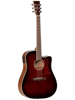 Tanglewood: Winterleaf Dreadnought Electro-Acoustic Guitar – Whiskey Barrel Instruments | Electro-Acoustic Guitar