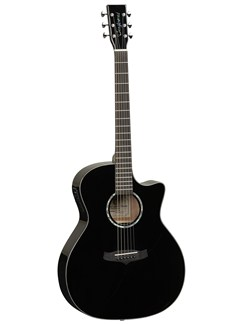 Tanglewood: Evolution TVC BK Cutaway Electro-Acoustic Guitar - Black Instruments | Electro-Acoustic Guitar