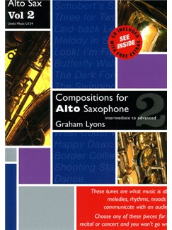 Lyons: Compositions for Alto Saxophone Volume 2 With CD Books and CDs | Alto, Piano Accompaniment