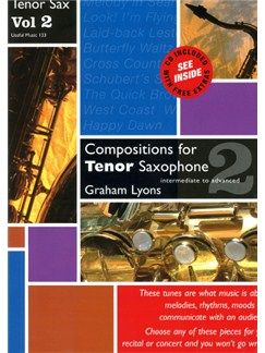 Graham Lyons: Compositions for Tenor Saxophone Volume 2 Books and CDs | Piano, Piano Accompaniment