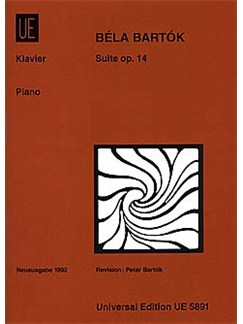 Bela Bartok: Suite For Piano Op.14 Books | Piano