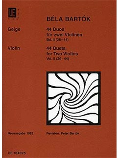 Bela Bartok: 44 Duets For Two Violins - Book 2 Books | Violin (Duet)