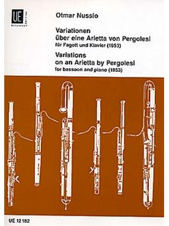 Otmar Nussio: Variations For Bassoon Books | Bassoon, Piano Accompaniment