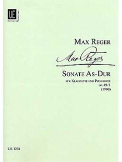 Max Reger: Clarinet Sonata In A Flat Op.49 No.1 Books | Clarinet, Piano Accompaniment