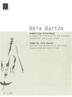 Bela Bartok: Romanian Folk Dances For Cello Books | Cello, Piano Accompaniment