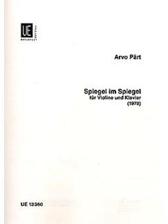 Arvo Pärt: Spiegel Im Spiegel Für Violine Und Klavier (1978) Books | Violin, Piano Accompaniment
