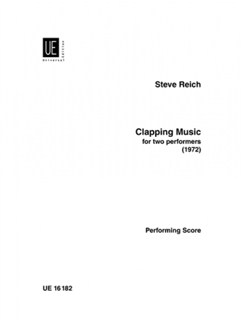 Steve Reich: Clapping Music For Two Performers Books | Percussion