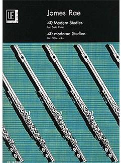 James Rae: 40 Modern Studies For Solo Flute Books | Flute