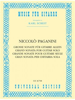 Nicolò Paganini: Grand Sonata For Solo Guitar Books | Guitar
