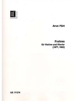 Arvo Part: Fratres Books | Violin, Piano Accompaniment