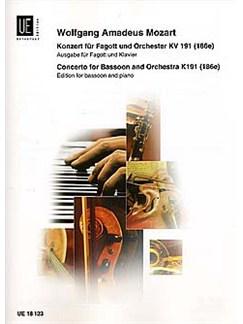 W.A. Mozart: Concerto For Bassoon K. 191 (186e) Books | Bassoon, Piano Accompaniment
