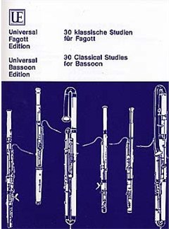 30 Classical Studies For Bassoon Books | Bassoon