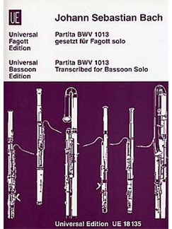 J.S. Bach: Partita BWV 1013 (Solo Bassoon) Books | Bassoon