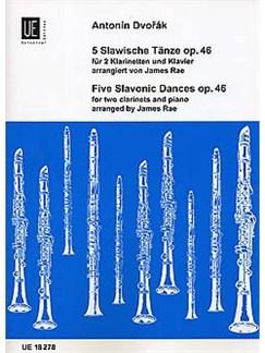 Antonin Dvorak: Slavwische Tanze Op.46 (Clarinet Duet and Piano) Books | Clarinet (Duet), Piano Accompaniment