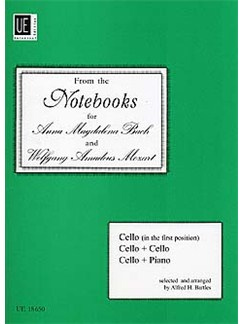 From The Notebooks For Anna Magdalena Bach and Wolfgang Amadeus Mozart Books | Cello, Piano Accompaniment or Cello (Duet)