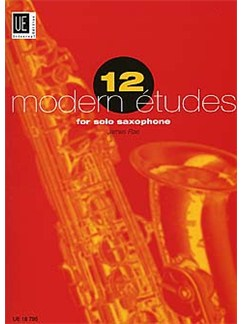 James Rae: 12 Modern Etudes For Solo Saxophone Books | Saxophone