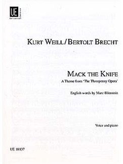 Kurt Weill: Mack The Knife Books | Voice, Piano Accompaniment