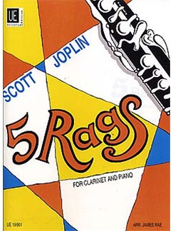 Scott Joplin: 5 Rags (Clarinet/Piano) Books | Clarinet, Piano Accompaniment