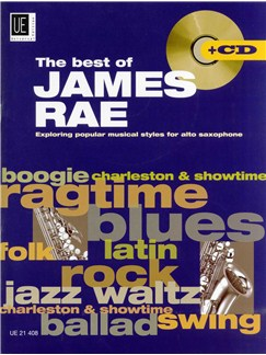 The Best Of James Rae - Exploring Popular Musical Styles For Alto Saxophone (Book And CD) Books and CDs | Alto Saxophone, Piano Accompaniment