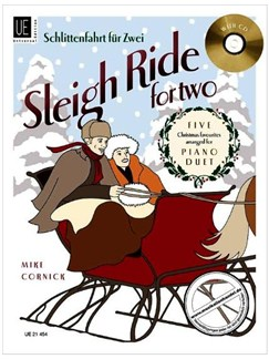 Mike Cornick: Sleigh Ride For Two - Piano Duet (Book and CD) Books | Piano Duet