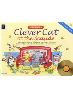 Mike Cornick: Clever Cat At The Seaside - Very Easy Level Books and CDs | Piano Duet