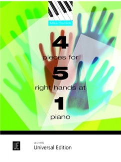Mike Cornick: 4 Pieces For 5 Right Hands At 1 Piano Books | Piano (Quintet)