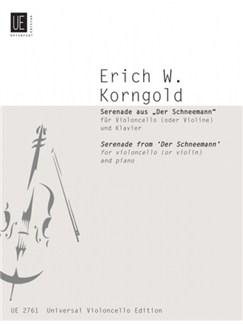 Erich Wolfgang Korngold: Serenade (The Snowman) Books | Cello, Violin, Piano Accompaniment