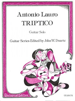 Antonio Lauro: Triptico Books | Guitar