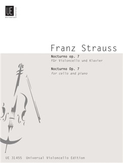 Franz Strauss: Nocturno Op.7 (Cello And Piano) Books | Cello, Piano Accompaniment