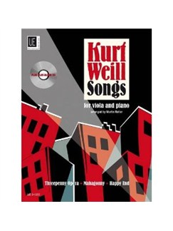 Kurt Weill: Songs Books and CDs | Viola, Piano