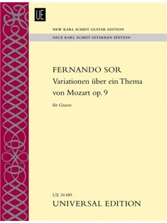 Fernando Sor: Variations On A Theme By Mozart (New Karl Scheit Guitar Edition) Books | Classical Guitar, Guitar