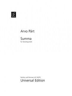 Arvo Pärt: Summa Books | String Quartet