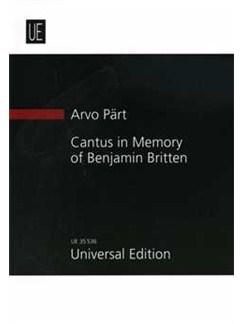 Arvo Pärt: Cantus In Memory Of Benjamin Britten Books | String Orchestra