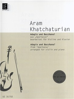 Aram Khatchaturian: Adagio And Bacchanal (Spartacus) - Violin/Piano Books | Violin, Piano Accompaniment