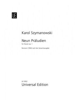 Karol Szymanowski: Nine Preludes Op. 1 Books | Piano
